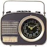 あまの(Amano) 置き時計 ブラック (約) 幅20.5×奥行き5.6×高さ19.8cm