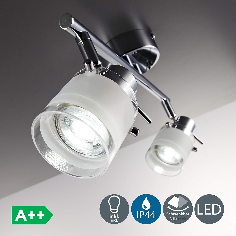 plafonnier 1 spot orientable 5W GU10 IP44 lampe pour salle ...