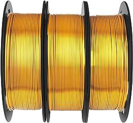 Each Spool 0.5kg with One 3D Print Stick Tool Mika3D Metallic Gold//Silver//Bronze 3D Printer PLA Filament Bundle Total 1.1kgs 1.75mm+//-0.03mm Widely Compatible