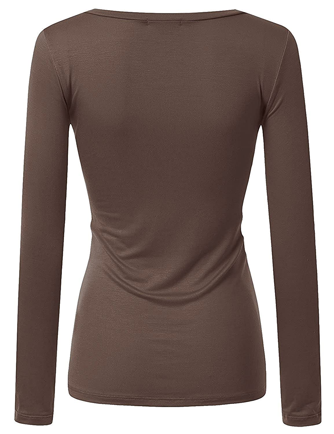 fa06ff87bd2 Active Women Basic Solid Plain V-Neck Casual Long Sleeve T Shirt Top ...