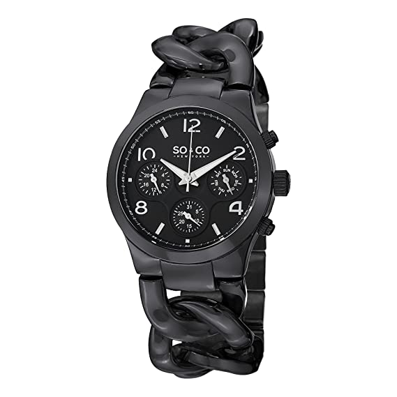 SO & CO New York Reloj 5013.7 Negro