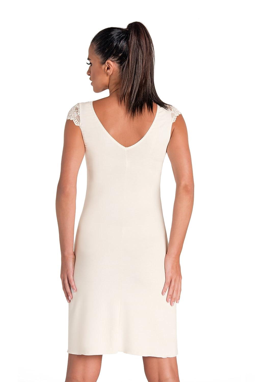 Donna Sensuale neglig/é//camicia da notte in viscosa con magnifici dettagli in pizzo incartata in una splendida confezione regalo