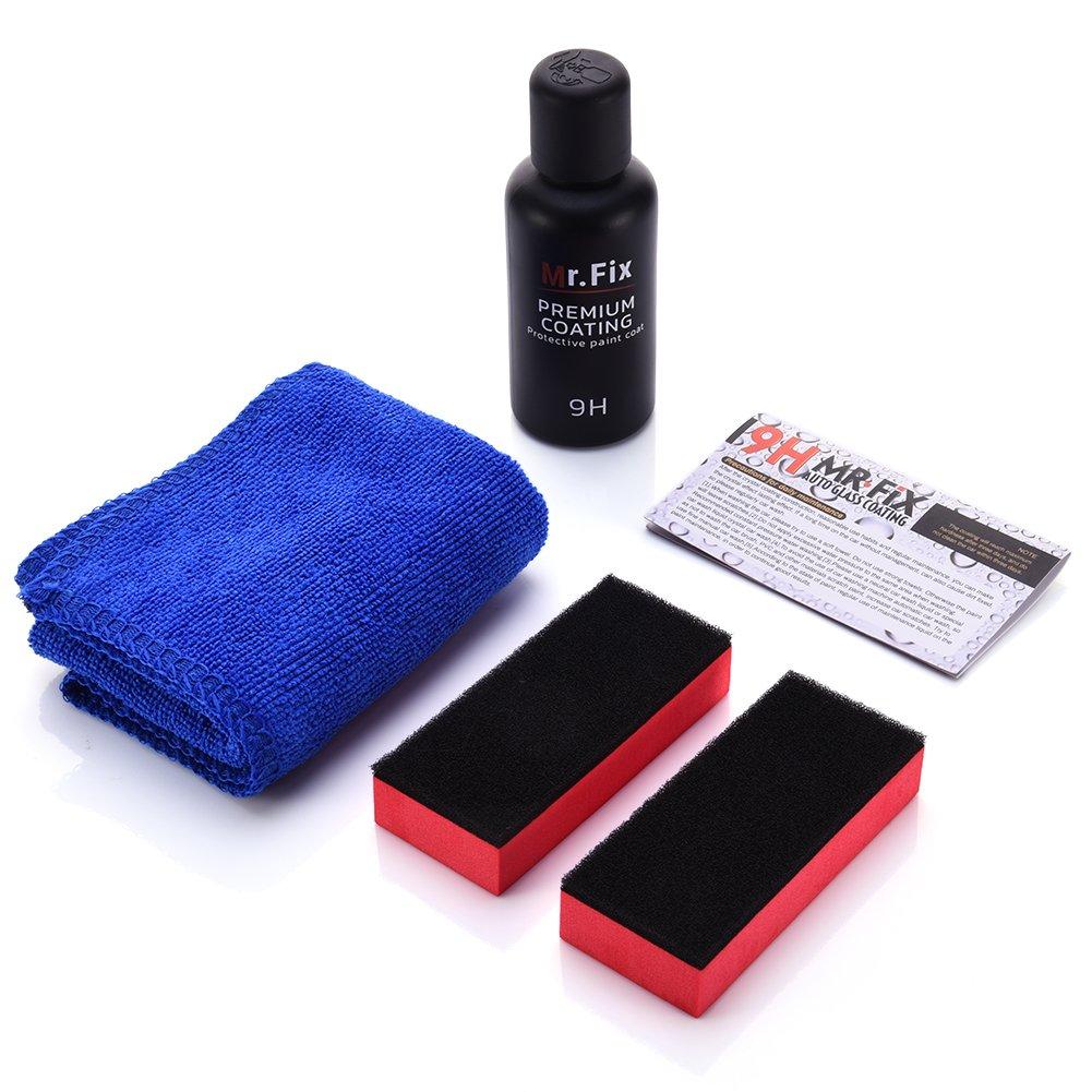 Chengstore - Kit di rivestimento liquido ceramico 9H che crea una pellicola anti-graffio sull' auto, lucidante auto, liquido ceramico lucido per proteggere la vernice, super idrorepellente, rivestimento vitreo, durezza: 9H