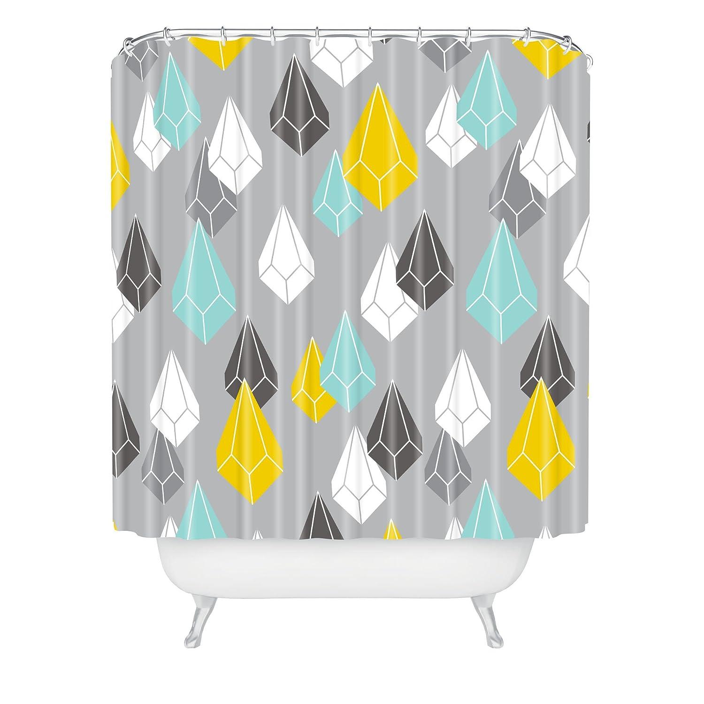 Standard Deny Designs 71 by 74-Inch Heather Dutton Raining Gems Whisper Shower Curtain
