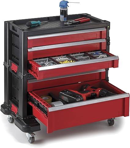 Keter de herramienta de sistema de almacenamiento de garaje y organizador de herramientas y modular 5 cajones en el pecho: Amazon.es: Bricolaje y herramientas