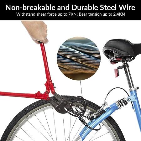 Amazon.com: Z ZANMAX - Candado de bicicleta con luz LED, 4 ...