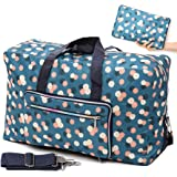 Foldable Travel Duffle Bag for Women Girls Large Cute Floral Weekender Overnight Carry On Bag for Kids Checked Luggage Bag (B