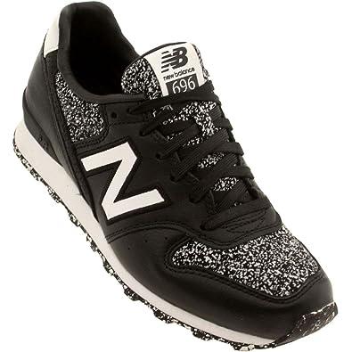 New Balance WL696BGB Women Black/Gray Speckles Shoes
