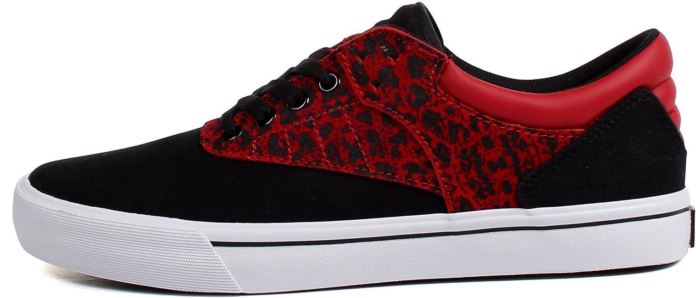 133ede4a6799 Amazon.com | Supra Men's Griffin Black/Red/Cheetah Men's 11.5 D - Medium |  Fashion Sneakers
