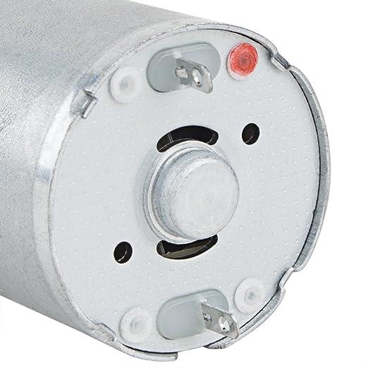 Reducción de velocidad eDealMax 5 rpm 24V DC Micro caja de engranajes del motor eléctrico de la caja de cambios del eje de salida Centric - - Amazon.com