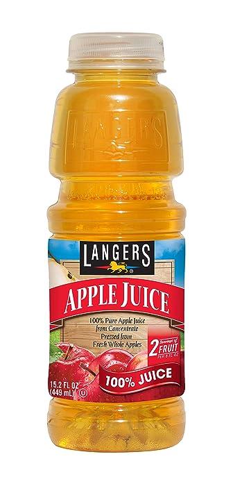 Langers 100% Apple Juice, 15.2 oz (Pack of 12)