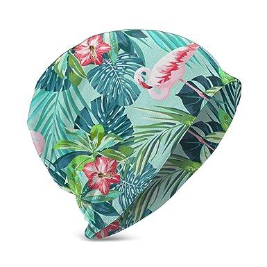 Patrón sin Costuras de Verano Tropical con pájaros flamencos y ...