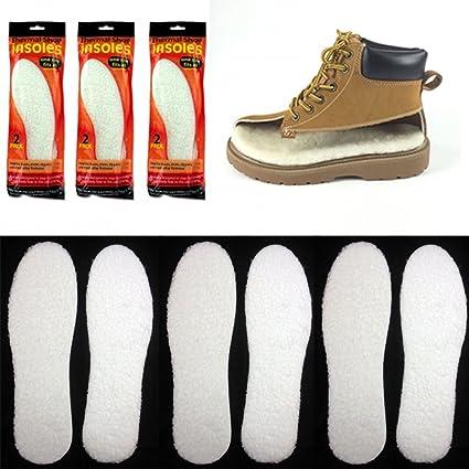Pair Winter Boot Shoe Warm Thermal Insole Fleece Foam Men Women Foot Insert Pads