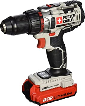 PORTER CABLE 20-Volt Max Lithium-Ion 1//2-Inch Cordless Drill /& 5 1//2-Inch