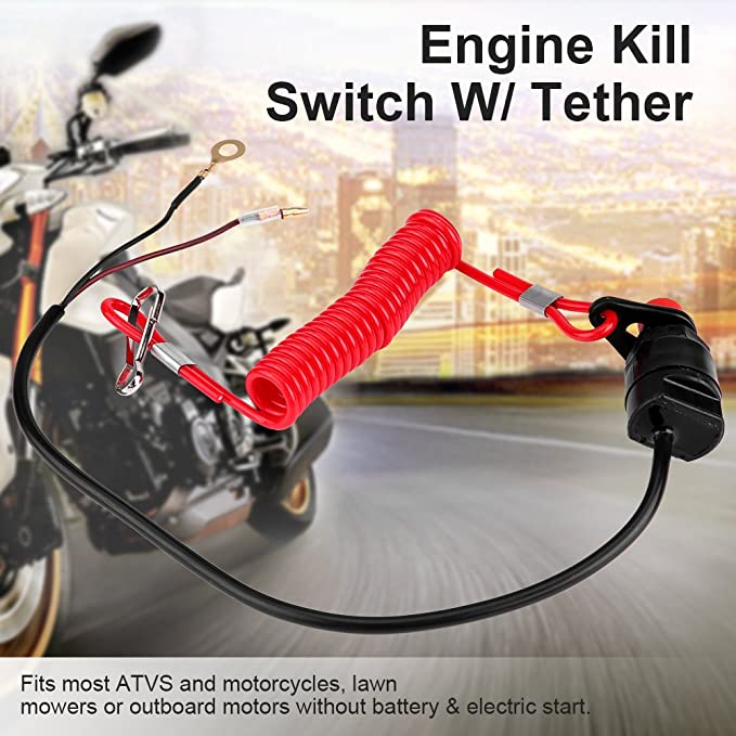 Acouto Universal Engine Stop Kill Tether Switch Lanyard for ATV Racing Emergency