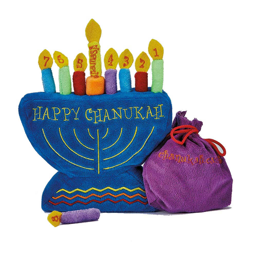 Rite -Lite Judaica My Soft Chanukah Set, Plush with Menorah and Candles Rite Lite LTD TYPS-5-N