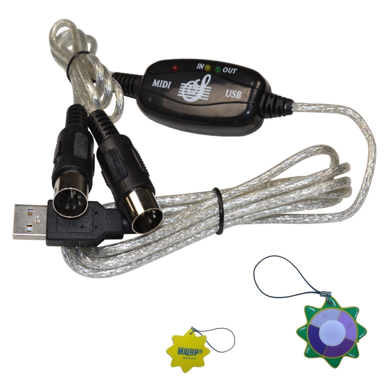 2019年最新入荷 HQRP USBイン-アウトMidiインターフェイスケーブルコンバータPC to音楽キーボードアダプタコードfor USB Alesis q61 61-key UVメーター USB Alesis/ MIDIキーボードコントローラプラスHQRP UVメーター B00I04SZAU, 布地のお店 ソールパーノ:1c6b8fec --- svecha37.ru