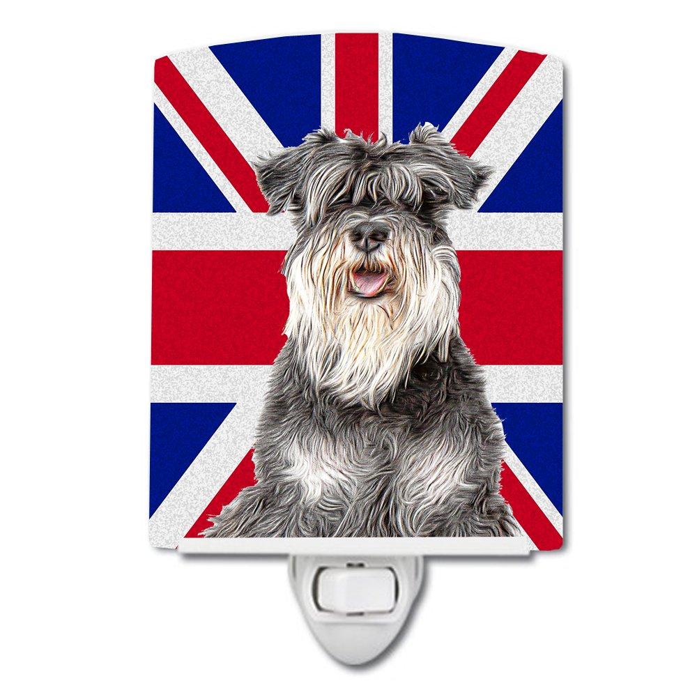 Caroline 's Treasures Schnauzerイギリス国旗ナイトライト、6