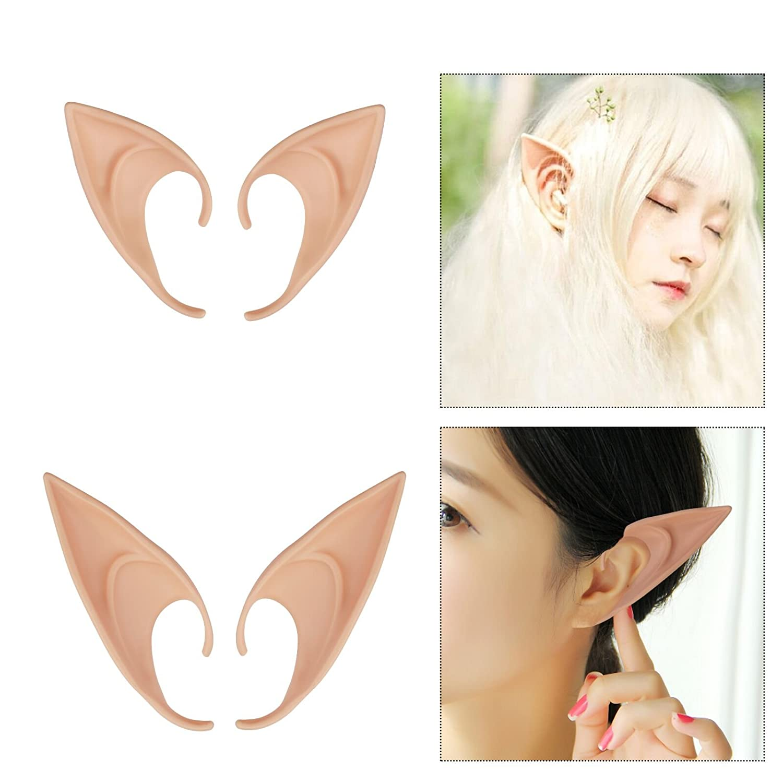 Halloween Latex Costume Prosthetic Elf Fairy Ears Tip Hobbit Cosplay Party Gifts