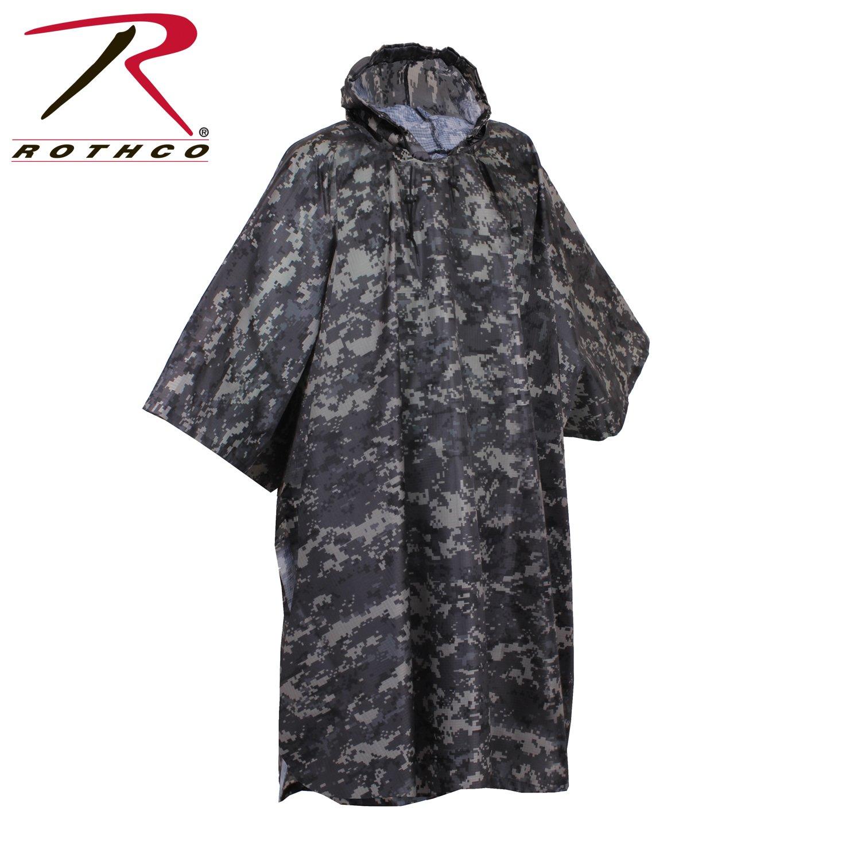 Rothco R/S Poncho, Black 4958
