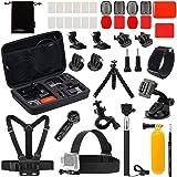 Luxebell Accessories Kit for AKASO EK5000 EK7000 4K WiFi DJI OSMO Action Camera Hero 9 8 7 6 5 Black Sliver
