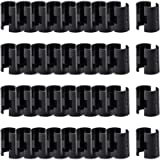 ANPHSIN 36 Pairs 72 Pack Wire Shelving Shelf Lock Clips for 1' Post- Shelving Sleeves Replacements for Wire Shelving…