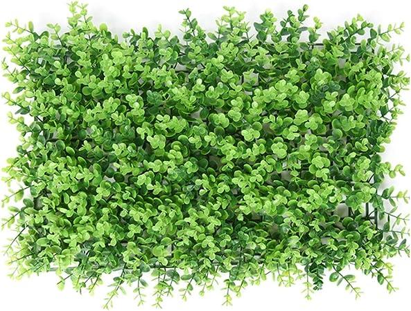 XEWNEG Seto Artificial Planta Verde Pantalla De Privacidad Panel De Plástico Falso Fondo De La Cerca del Enrejado, For La Boda Decoración De La Pared del Jardín (23.62x15.75 Pulgadas) (Color : 02):
