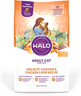 product image for Halo Natural Dry Cat Food, Adult Recipe