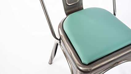 Rounded Back Chair Stool Cushion For Tolix And Other Metal Chairs Blue