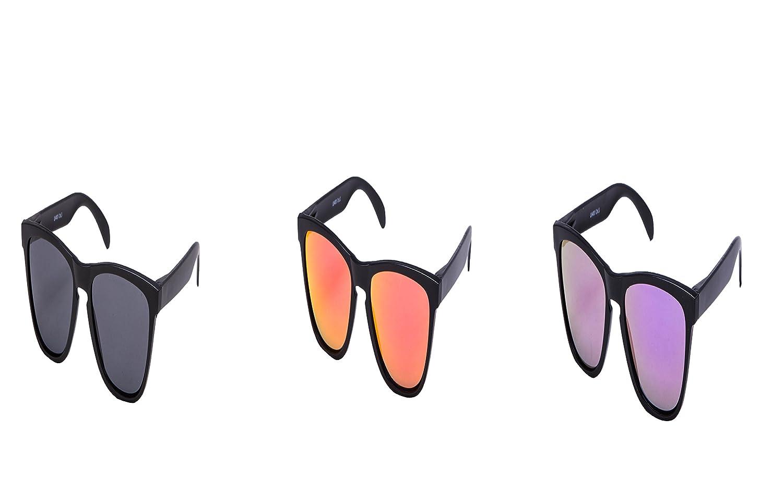 2 er Set EL-Sunprotect® Sonnenbrille Polarisierte Linsen Retro Vintage Style Nerd Look Stil Unisex Brille - Weiß Türkis + Weiß Rosa acFG5