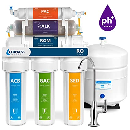 55f0539bea4 Express Water Alkaline Reverse Osmosis Water Filtration System – 10 Stage RO  Mineralizing Purifier – Mineral