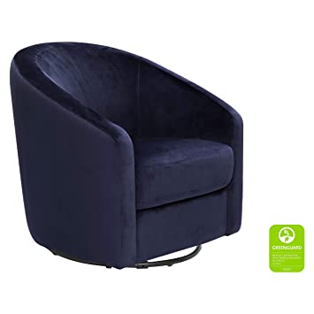brand new 95aac 401c0 Babyletto Madison Swivel Glider, Navy Blue Microsuede Fabric