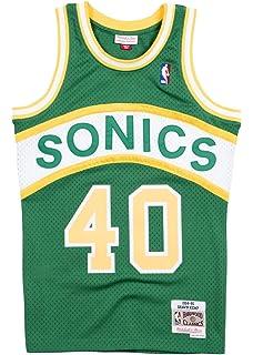 Mitchell   Ness Shawn Kemp 1994-95 Seattle Supersonics Road Swingman Jersey  Men 79c12ac36