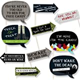 Funny Trick or Treat - Halloween Party - Photo Booth Props Kit - 10 Piece