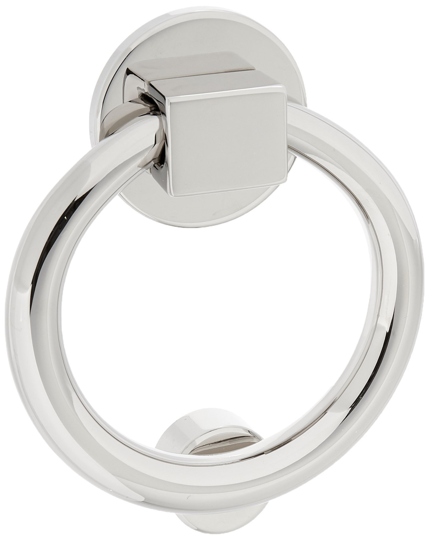 Baldwin 0195055 Ring Door Knocker, Lifetime Bright Nickel