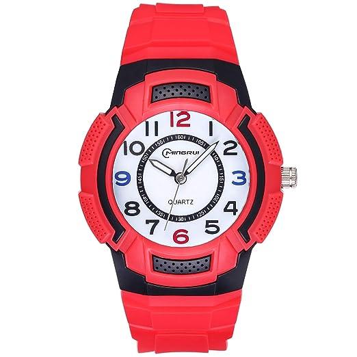 Reloj para niños, Reloj para niños Relojes Deportivos a Prueba de Agua para niños y