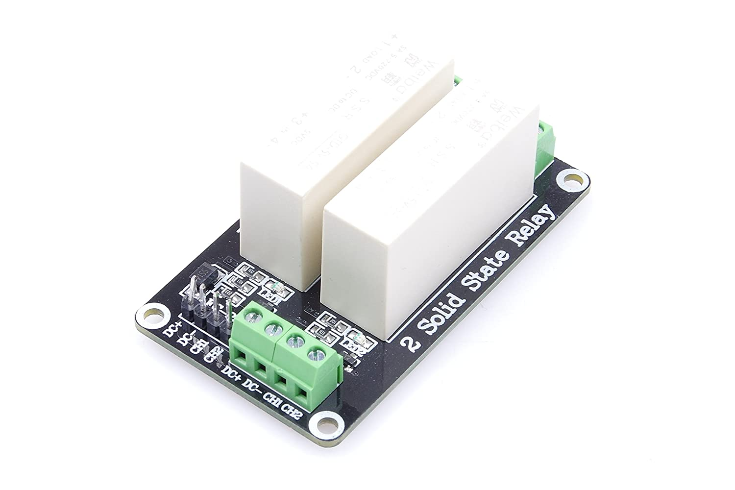 Knacro 2 Channel Low Level Trigger Solid State Relay 220v Ac Module Dc 5a Single Phase 3 5v Power Versions Home Audio Theater