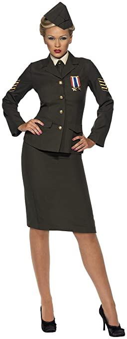 1940s Costumes- WW2, Nurse, Pinup, Rosie the Riveter Smiffys Womens Wartime Officer Costume $35.15 AT vintagedancer.com