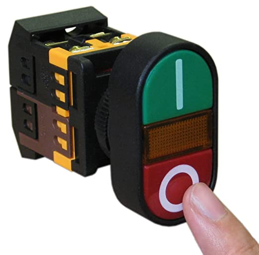 Latching 240v 10A Switch stop start red green down buttons