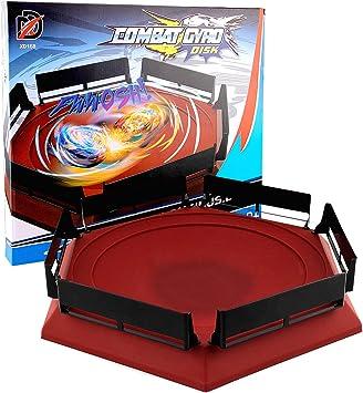 Arena Compatible para Beyblade, 38,5 X 34cm Disco Burst Gyro Arena ...