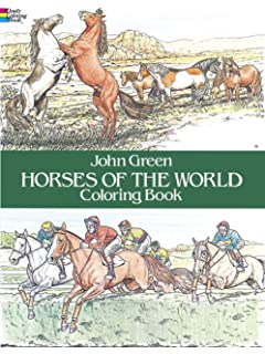 Horses Of The World Coloring Book Dover Nature