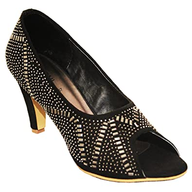Heels For Girls Women La S Fashion Pointed Heel 2 75 Inch Entyce By Nitoni Buy Online At Low Prices In India Amazon In
