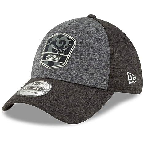 67b489f2 New Era 39Thirty Cap - NFL Black Sideline Los Angeles Rams: Amazon ...