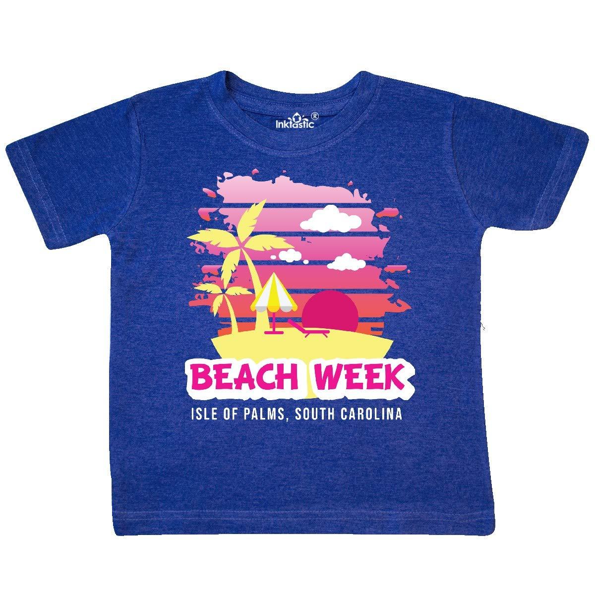 inktastic Beach Week Isle of Palms South Carolina with Palm Toddler T-Shirt