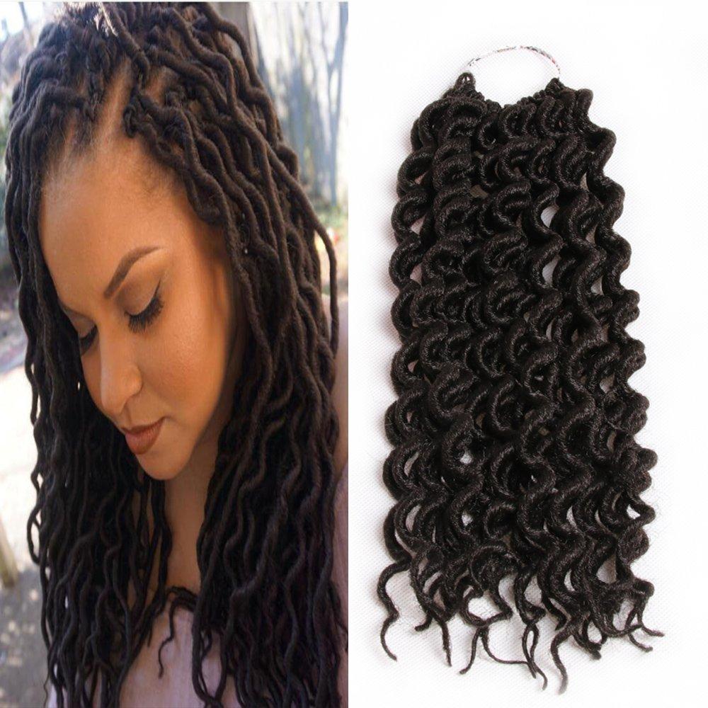 Amazoncom 6packslot Curly Faux Locs Crochet Hair Twist Braids