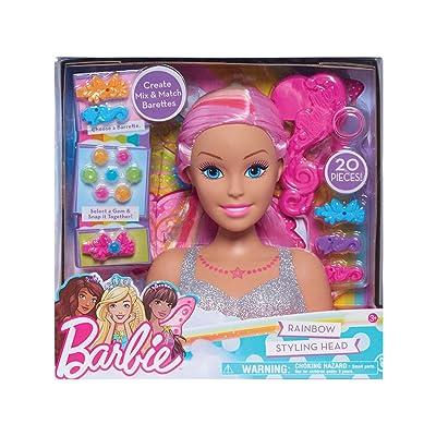 Barbie Dreamtopia - Cabezal de Estilo arcoíris: Juguetes y juegos