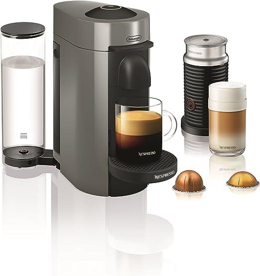 Paquete de cafetera Nespresso VertuoPlus con espumador de leche ...