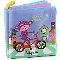 Baby Shower Bath English Cartoon Animal Cloth Book Early Educational Games Toy Christmas Birthday Gifts for Kids Children - Traffic