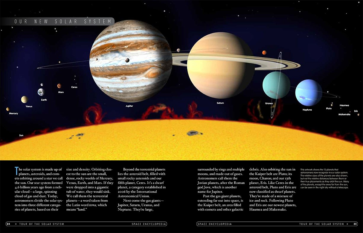 space encyclopedia a tour of our solar system and beyond