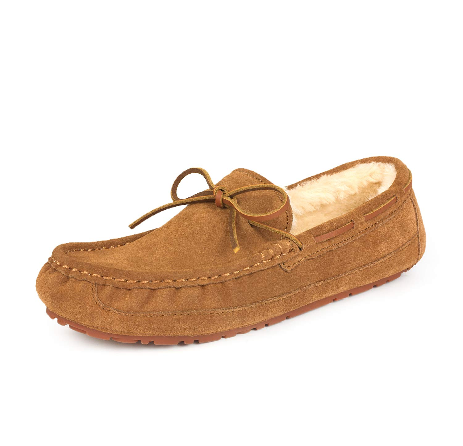 DREAM PAIRS Men's Au-Loafer-02 Tan Faux Fur Slippers Loafers Shoes Size 10.5 M US